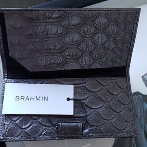 Brahmin Brand New Checkbook Cover Leather